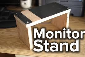 Monitor Shelf For Desk by Diy Monitor Stand Avoid Slouching Youtube