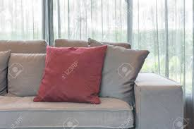 100 Modern Sofa Design Pictures Red Pillow On Modern Sofa In Living Room Design