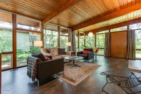 100 Glass Walls For Houses Midcentury Home With Walls Of Glass Asks Just 159K Curbed