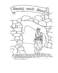 David Coloring Pages Bible Printables King