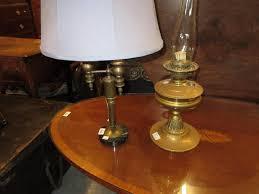 Swarovski Crystal Lamp Finials by Three Branch Table Lamp Base On Circular Marble