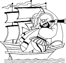 Free Kids Coloring Pages Christopher Columbus