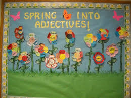 Spring Classroom Door Decorations Pinterest by This Is A Fantastic Way To Display An Adjectives Activity