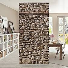 rideau separateur de panneau rideau mediterranean stonewall 250x120cm support au