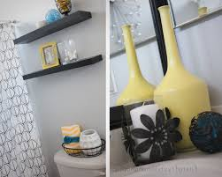 Yellow Grey Bathroom Ideas by Yellow And Grey Bathroom Decorating Ideas Love The Gray And