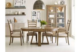 Kincaid Furniture Oakley Arm Chair Dining Room Seating Upholstered Side Solid Wood Plank Road Collection