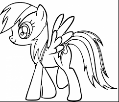 Amazing Rainbow Dash Coloring Pages Printable With Page And Preschool