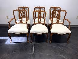 SOLD OUT - KINDEL Borghese Cherry French Country Style Dining Chairs - Set  Of 6 Refinished Painted Vintage 1960s Thomasville Ding Table Antique Set Of 6 Chairs French Country Kitchen Oak Of Six C Home Styles Countryside Rubbed White Chair The Awesome And Also Interesting Antique French Provincial Fniture Attractive For Eight Cane Back Ding Set Joeabrahamco Breathtaking