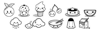Cute Food Coloring Pages