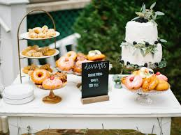 Donuts Dessert Table At Southern Wedding