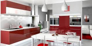 cuisine moderne blanche et cuisine bois et stunning deco cuisine noir et blanc pour une