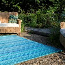Serape Stripe Indoor Outdoor Area Rug Turquoise