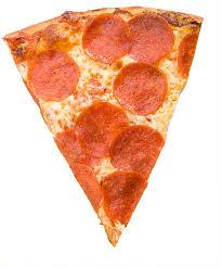 Pepperoni Pizza Slice Isolated Adobe RGB stock photo