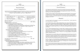 Resume Biography Sample Download Diplomatic Regatta Chef Examples