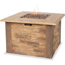 Gas Light Mantles Home Depot by Amazon Com Uniflame Lp Gas Outdoor Fire Bowl With Faux Stacked