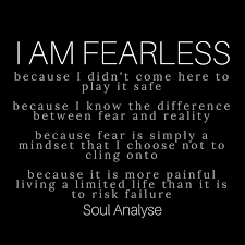 Affirmation I AM FEARLESS