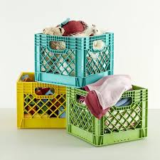Kids Milk Crate Storage