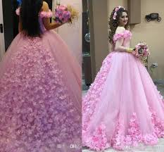 2017 new pink quinceanera ball gown dresses off shoulder crystal