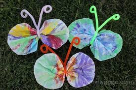 Spring Crafts For Kids Coffee Filter Butterfly Craft BX7ObnbK
