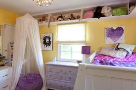 Absolutely Gorgeous Contemporary Bedroom Girls Room Collection Of Bean Bag With Loft Beds Yellow Purple