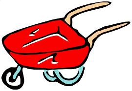 Roughly drawn wheelbarrow