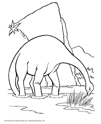 Full Image For Brontosaurus Or Apatosaurus Dinosaur Coloring Page Free Printable Good Pages