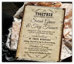 Burlap Country Wedding Invitation