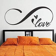 infinity symbol vinyl schlafzimmer wandtattoo king size kopfteil aufkleber romantische spruch wand decor