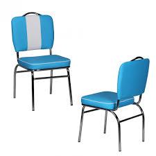 wohnling esszimmerstuhl american diner 50er jahre retro blau weiß wl1 717