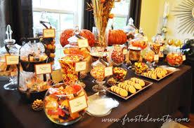 Autumn Fall Candy Dessert Buffet Frostedevents Orange Halloween