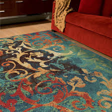 orian rugs watercolor scroll multi colored area rug or runner