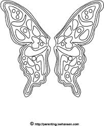 Butterly Fairy Wings Coloring Page Printable