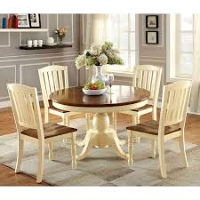 furniture of america besette cottage 5 piece oval dining table set