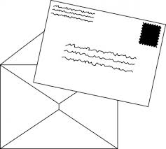 Letter clipart black and white 1