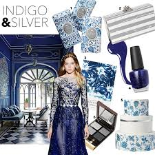 A Color Palette Inspired By Romantic Winter Night Indigo Silver