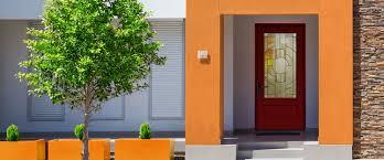 Therma Tru Entry Doors by Entry Door Swing Fiberglass Semi Glazed Classic Craft