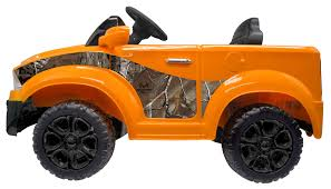 100 Realtree Truck 12V Orange Electric Ride On In Xtra Camo