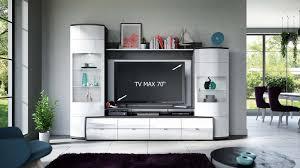 glasgow wohnwand anbauwand wohnzimmer weiß hochglanz anthrazit