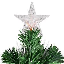 Goplus 6Ft Fiber Optic Artificial Christmas Tree W 225 Multi Color LED Lights And Stand