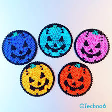 Halloween Hama Bead Patterns by Halloween Coasters Perler Beads By Techno6 Cross Stitch Hama