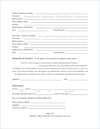 Medical Authorization Parental Consent Form Template Child Sample Photo
