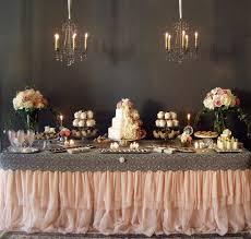 Blush Cream And Vintage Lace Dessert Table Simply Elegant Platinum Wedding Magazine