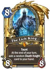 the lich king neutral card hearthstone