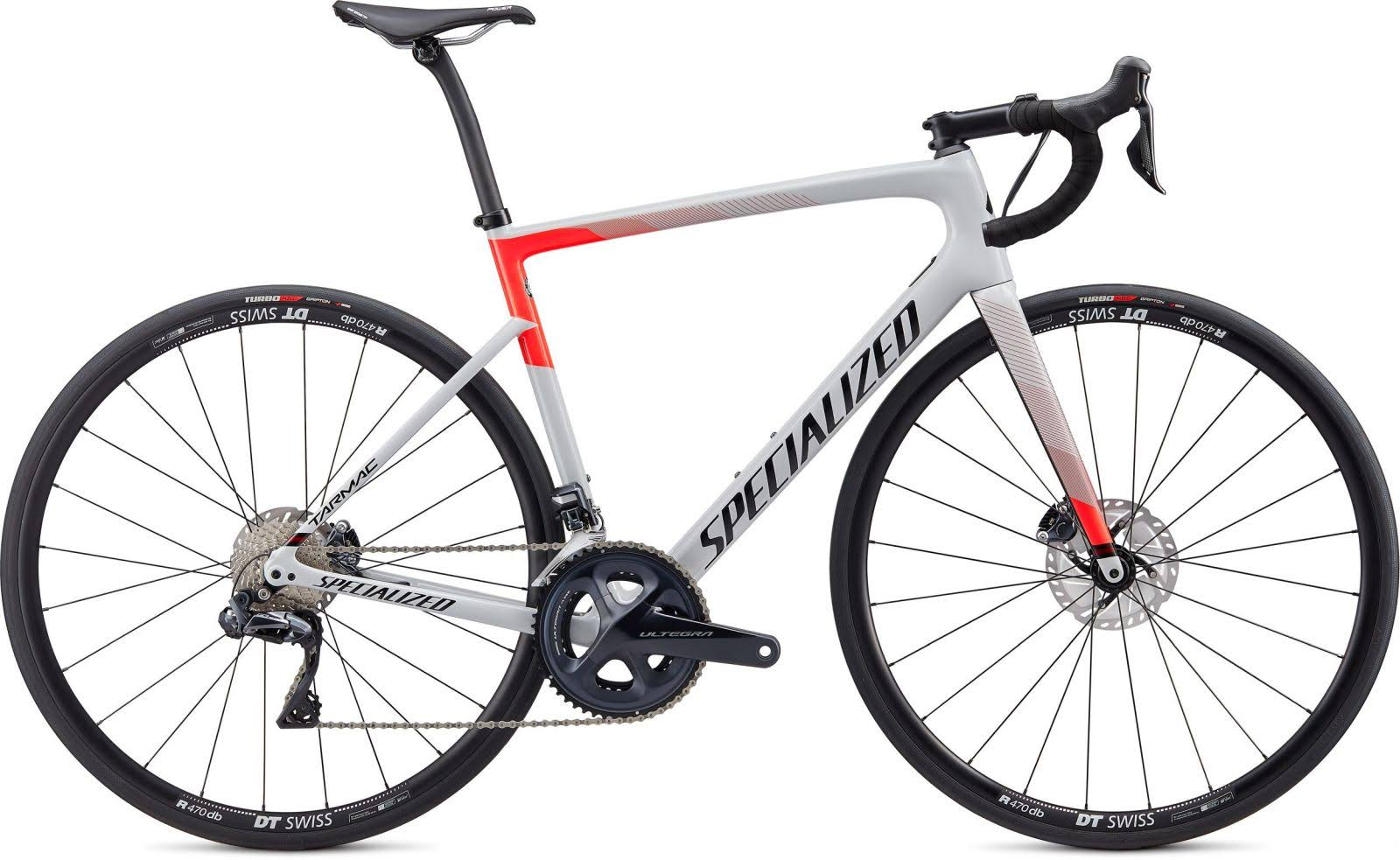 Specialized Tarmac Disc Comp – Ultegra Di2 Gloss Dove Grey/Rocket Red/Tarmac Black / 54