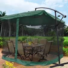 patio umbrella with netting home outdoor decoration