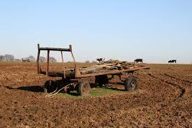Farm Trailer An Old In A Field West Sussex UK