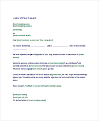 Letter of Demand Sample 9 Examples in Word PDF
