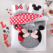Mickey Mouse Queen Size Bedding by Absolutely Lovely Mickey And Minnie Mouse Bedding Set