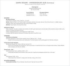 Sample Resume For Lab Assistant Entry Level Administrative