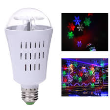 professional e27 4w led projection rotating stage bulb white rgb